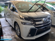 2016 TOYOTA VELLFIRE 2.5 ZA surround camera power boot precrash system sunroof 7 seaters 2 power doors keyless unreg