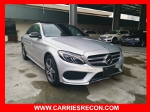 2014 MERCEDES-BENZ C-CLASS C200 PANAROMIC ROOF/POWER BOOT/RED LEATHER/HEAD UP DISPLAY - UNREG