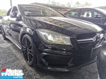 2014 MERCEDES-BENZ CLA 45 AMG UNREG.NO HIDDEN CHARGE.TRUE YEAR MADE CAN PROVE.FULLSPEC.JPN.SUNROOF.ORI CARBON FIBRE SKIRTING N SPOILER.MEMORY SEAT.LEATHER.REVERSE CAM.LED LIGHT.PRE CRASG.LANE ASSIST.ORI AMG KIT N SPORT RIM.PADDLE SHIFT N ETC.FREE WARRANTY N MANY GIFTS