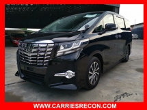 2017 TOYOTA ALPHARD 2.5S EDITION - UNREG - READY TO VIEW...