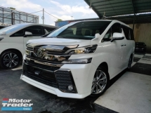 2017 TOYOTA VELLFIRE 2017 Toyota Vellfire 2.5 ZA Golden Eye Sun Roof Pre Crash Power Boot 2 Power Door 7 Seater Unregister for sale
