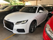 2015 AUDI TT 2.0 S-Tronic S-Line Quattro Turbocharged 230hp Matrix-LED Virtual Cockpit MMI Bucket Seat Multi Function Paddle Shift Steering Dynamic Comfort Drive Select Bluetooth Connectivity Unreg