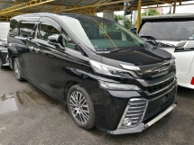 2016 TOYOTA VELLFIRE 2.5 ZG EDITION ALPINE MONITOR UNREGISTERED