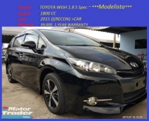 2015 TOYOTA WISH 1.8 S Spec Modelista RM120,888-OTR 👍 1 year warranty interest 2.5% +/😊⭐⭐⭐-