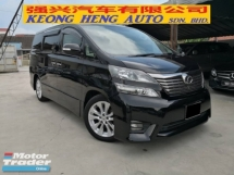 2010 TOYOTA VELLFIRE 3.5 ZG Pilot Leather Seat TRUE YEAR MADE 2010 Full Spec Home Theater Sunroof 3 Cams 2012