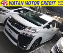 2018 TOYOTA VELLFIRE 2.5 ZG FACELIFT 3 LED SUNROOF NAPPA LEATHER FULL SPEC 2018 JPN UNREG