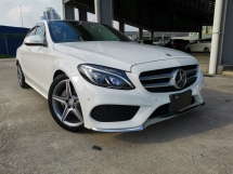2014 MERCEDES-BENZ C-CLASS C200 AMG FULL SPEC WHITE PANROOF HUD PB UNREG