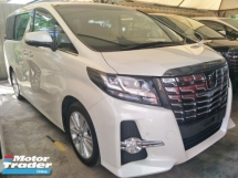 2015 TOYOTA ALPHARD 2.5 SA SUNROOF MOONROOF PRE CRASH STOP SYSTEM 360 SURROUND CAMERA POWER BOOT FREE WARRANTY LOCAL AP