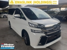 2016 TOYOTA VELLFIRE 2.5 ZG Spec Sunroof JBL Sound System Surround Camera Power Boot Power Door Local AP Unreg