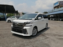 2015 TOYOTA VELLFIRE 2.5 ZA EDITION UNREGISTERED