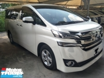 2016 TOYOTA VELLFIRE 2.5 X SPEC 8 SEATER POWER BOOT 360 SURROUND CAMERA 2 POWER DOOR DVD PLAYER WITH REAR MONITOR