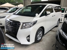 2016 TOYOTA ALPHARD 2.5 2AR-FE 2WD 8 Seat 360 Surround Camera Sun Roof Moon Roof Automatic Power Boot 2 Power Doors Intelligent LED Smart Entry 3 Zone Climate 9 Air Bags Unreg