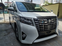 2016 TOYOTA ALPHARD 2.5 X SPEC PRE CRASH/SUNROOF/8 SEATS/2 POWER DOOR UNREG