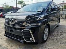 2015 TOYOTA VELLFIRE 2.5 ZA 7 SEATS/2 POWER DOOR/ROOF MONITOR UNREG