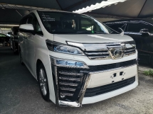2018 TOYOTA VELLFIRE 2.5  ZA NEW FACELIFT 7 SEATS/2 POWER DOOR/PRE CRASH UNREG