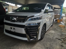 2018 TOYOTA VELLFIRE 2.5 ZG NEW FACELIFT ROOF ALPINE/SUNROOF/PRE CRASH/FULL LEATHER UNREG