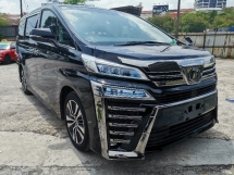 2018 TOYOTA VELLFIRE 2.5 ZG NEW FACELIFT SUNROOF/PRE CRASH/FULL LEATHER UNREG