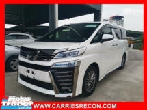 2018 TOYOTA VELLFIRE 3.5 EXECUTIVE LOUNGE - FULL SPEC/BLACK INTERIOR - JAPAN UNREG