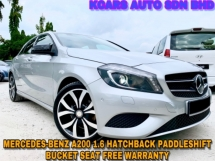 2015 MERCEDES-BENZ A-CLASS A200 FULL SVC RCD ORI PAINT  FREE WARRANTY