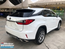 2016 LEXUS RX RX200t F Sport 2.0 Turbocharged Sun Roof 360 View Camera Pre Crash Head Up Display Running LED Intelligent Lane Departure Assist Multi Function Paddle Shift Steering Smart Entry Lane Departure Assist Bluetooth Connectivity Unreg