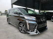 2018 TOYOTA VELLFIRE 2018 Toyota Vellfire 2.5 ZG 3 LED Sun Roof JBL Home Theatre 4 Camera Pre Crash BSM LTA Modelista Bodykit Unregister for sale