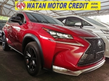 2015 LEXUS NX 200 T F SPORT UNREG.TRUE YEAR MADE.PRE CRASH.SITE N REAR CAMERA.3 LED LAMP.MEMORY SEAT.BODYKIT N RIM.SPORT PADDLE SHIFT N ETC.FREE WARRANTY N MANY GIFTS