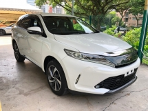 2017 TOYOTA HARRIER 2.0 Turbocharged 245hp 360 Surround Camera Automatic Power Boot Pre-Crash Lane Departure Assist Intelligent Bi-LED Smart Entry Engine Start Stop 9 Air Bags Unreg