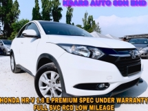 2016 HONDA HR-V 1.8 E UNDER WARRANTY FULL SVC RCD