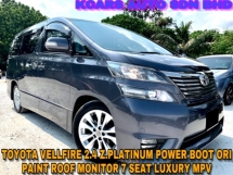 2015 TOYOTA VELLFIRE 2.4 Z.PLATINUM POWER POOR ORI PAINT