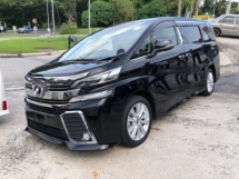 2015 TOYOTA VELLFIRE Unreg Toyota Vellfire ZA 2.5 7seats 360view Sunroof Home Theater JBL Sounds Syetem PowerBoot Push St