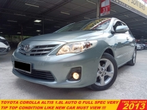 2013 TOYOTA COROLLA ALTIS 1.8 G FULL SPEC FACELIFT(A)LKE NEW