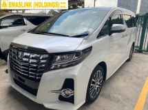 2015 TOYOTA ALPHARD 2.5SC FULLY LOADED JBL THEATER PILOT TWIN SUNROOF POWER DOOR BOOT
