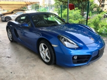 2016 PORSCHE CAYMAN 2.7 PDK Chrono-Sport Package BOSE Surround System Sport Exhaust Sport PLUS Mode Selection Paddle Shift Steering Bucket Seat Bi-Xenon Light Zone Climate Control Auto Spoiler Lifting Bluetooth Connectivity Unreg