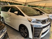 2018 TOYOTA VELLFIRE 2.5 ZG sunroof 4 camera power boot precrash system facelift leather pilot seat memory seats unreg