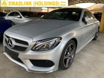 2016 MERCEDES-BENZ C-CLASS C200 AMG COUPE UNREG PANORAMIC ROOF POWERBOOT PUSHSTART KEYLESS FULL SPEC