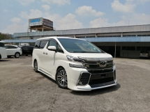 2016 TOYOTA VELLFIRE 2.5 ZG FULL SPEC JBL 4 CAMERA MODELLISTA UNREGISTERED
