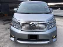 2012 TOYOTA VELLFIRE 2.4 Z - 7 SPEED - 7 SEATER - 2 POWER DOOR - BLACK INTERIOR - BODYKIT - WARRANTY - DONE COATING - SUPERB CONDITION - ALL ORIGINAL - HOT SALE PROMO