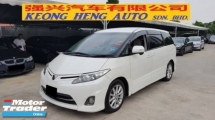 2012 TOYOTA ESTIMA 2.4 VVTI (A) AERAS MODEL, REG 2016, ONE CAREFUL OWNER, WEL CAB SEAT, 1 POWER DOOR, MILEAGE DONE 56K KM, 17