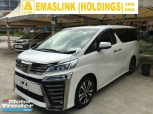 2018 TOYOTA VELLFIRE 2.5ZG Edition ZG MPV LEATHER P\CRS SUN ROOF POWER BOAT FULL VIEW CAM