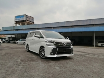 2016 TOYOTA VELLFIRE 2.5 ZG SUNROOF LEATHER ALPINE UNREGISTERED LOCAL AP