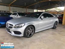 2016 MERCEDES-BENZ C-CLASS C200 AMG Coupe 2.0 Turbocharged 9G-Tronic Panoramic Roof Memory Bucket Seat Smart Entry Adaptive Intelligent-LED Hi Beam Automatic Power Boot Multi Function Paddle Shift Steering Command Touch Bluetooth Connectivity Unreg