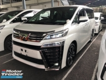 2018 TOYOTA VELLFIRE Unreg Toyota Vellfire ZG 2.5 Pilot 7seats 360view PowerBoot Sunroof 3LED Push Start 7G