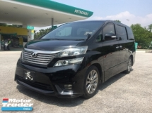 2012 TOYOTA VELLFIRE 2.4Z PLATINUM SUNROOF POWERBOOT FACELIFT ORIGINAL MILEAGE TIPTOP