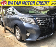 2015 TOYOTA ALPHARD 2.5 X SPEC 2 POWER DOORS POWER BOOT SURROUNDING 4 CAMERA 2015 JAPAN UNREG