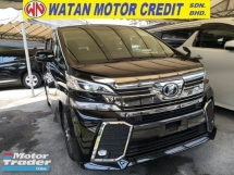 2017 TOYOTA VELLFIRE 2.5 ZG SUNROOF 360 CAM PRE CRASH UNREG