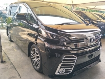 2017 TOYOTA VELLFIRE 2.5 ZG SUNROOF MOONROOF FULL BODYKIT POWER BOOT 2 POWER DOOR 18 SPORT RIM FREE WARRANTY LOCAL AP