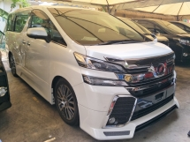 2016 TOYOTA VELLFIRE 2.5 ZG SUNROOF PRE CRASH STOP SYSTEM MODELISTA BODYKIT 360 SURROUND CAMERA ALPINE SURROUND SYSTEM