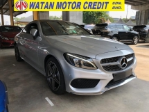 2016 MERCEDES-BENZ C-CLASS C200 2.0 AMG COUPE PAN ROOF KEYLESS REVERSE CAMERAPOWER BOOT UNREG