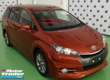 2014 TOYOTA WISH 2014 TOYOTA WISH 2.0 Z  SPORT JAPAN SPEC  CAR SELLING PRICE ONLY ( RM 115000.00 NEGO ) ORANGE