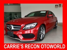 2016 MERCEDES-BENZ C-CLASS C180 AMG HIGH SPEC (RED FULL LEATHER/HEAD UP DISPLAY/POWER BOOT) - UNREG
